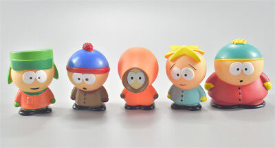 5pcs / Set South Park Kyle Butters Stan Cartman Kenny Figures Toy Kids Gift - South Park Stan