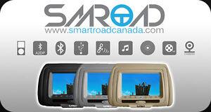 """2X7"""" CAR DVD Headrest Head rest Roof mount Sale! Swivel SCREEN"""