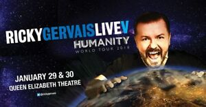 Ricky Gervais Ticket for Jan. 29, 2017 @ QE