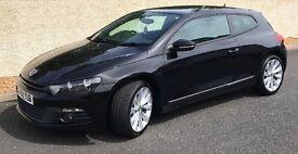 VW SCIROCCO 2.0 TSI Black (2009-78K MILES) £7395. MOT'd June2018
