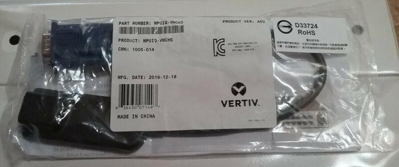 NEW Vertiv MPUIQ-VMCHS MPU IQ Interface for VGA USB