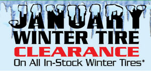 January Winter Tire Clearance