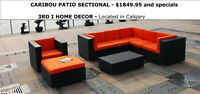 8pc Patio Sectional CARIBOU-2015 in Red,Green @3rdi.ca-$1849.95
