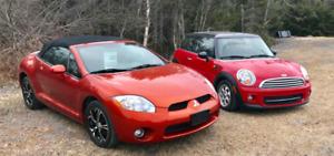 2008 Mitsubishi Eclipse and 2013 Mini Cooper