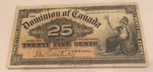 Paper money Dominion of Canada 1900 25 Cents Shinplaster January