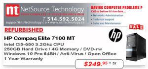 PC HP Elite Desktop 7100 MT Ci5 3.2Ghz / DD 250G / MEM 4G