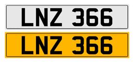 Private personal reg LNZ 366 Lindsay, Linz etc