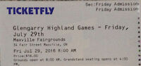 FRIDAY! Maxville Highland Games Admission Ticket