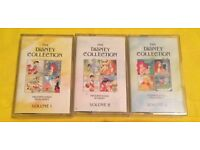 The Disney Collection Vol 1,2,3 Cassette Tapes