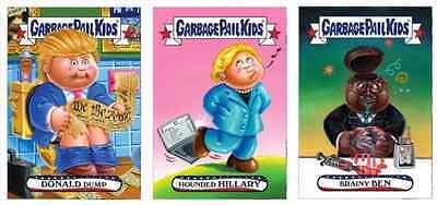 2016 Topps Garbage Pail Kids GPK Presidential Iowa Caucus 10-card complete set