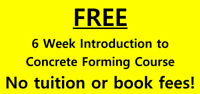 FREE 6 Week Intro to Concrete Forming Course