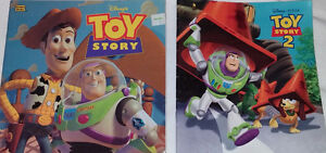 Qty 2 Sets of 2 Toys Story Books & 5 Toy Figures (Lot 1 & 2)