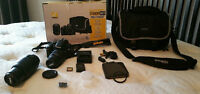 Nikon D3200 Camera, Two Zoom Lens, UV Filter and Accessories