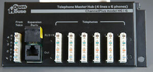 Channel Plus H616 Telephone Master Hub 4 x 6 Phone Line