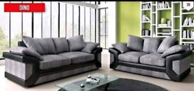 Bumper Offer Dino 3 + 2 black and grey Sofa
