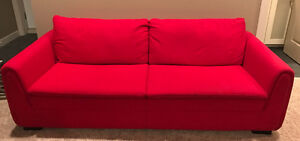 Trendy Red Couch front Structube