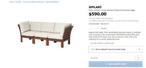 APPLARO IKEA SOFA SET FOR SALE ASAP! MINT CONDITION, LIGHT USE!