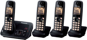 Panasonic KC-TGA4131c Cordless Phone with Answering System + 4HS