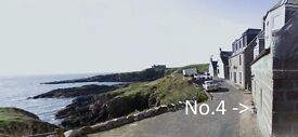 Seafront cottage to rent in Boddam. Spectacular views, 3 beds, 2 shower rooms, GCH, DG, parking.