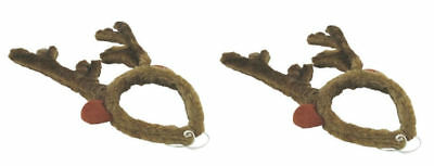 2x Reindeer Antler Headband - Costume Hat Deer Horn Cap - US Seller - Set of 2 - Reindeer Antler Headband