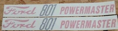 Ford 801 Powermaster Hood Decals