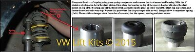 VW Lift kit Front Suspension Coil Spacer 1 inch Leveling Beetle Golf Jetta MK4