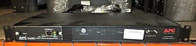 APCAP7750 Rack ATS 15A 100/120V (2)5-15 in (8)5-15 out