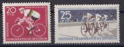 DDR 1960 POSTFRISCH MINR 779 780 RADWELTMEISTERSCHAFTEN