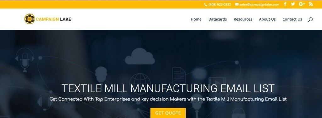 Textile Mill Manufacturing Email List | Textile Mill Mailing Database | in  Richmond, London | Gumtree