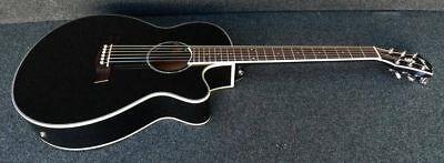 Ibanez Acoustic Electric Guitar - IBANEZ AEG10II-BK Acoustic-Electric Guitar EQ w/ Tuner Fishman pickup JET BLACK