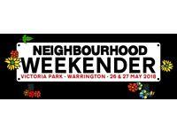 4 x Neighbourhood (Warrington) Weekender Tickets 26-27 May 2018