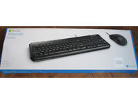 """""""MICROSOFT WIRED 600 DESKTOP"""" USB KEYBOARD & MOUSE BOXED SET - PC & AppleMac - FREE POSTAGE"""