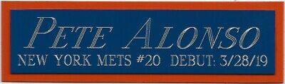 PETE ALONSO NY METS NAMEPLATE FOR AUTOGRAPHED Signed BASEBALL-JERSEY-BAT-PHOTO