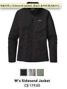 Patagonia women's soft shell jacket -- black, size M
