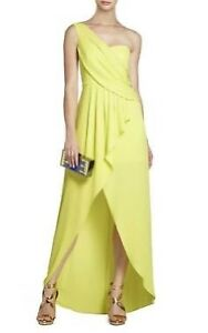 BCBG Yellow-Green (chartreuse) Gown Size 8