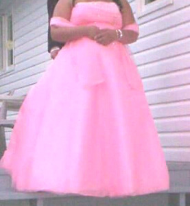 Coral prom dress size 24