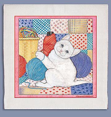 Cat White Cat Dish Towel