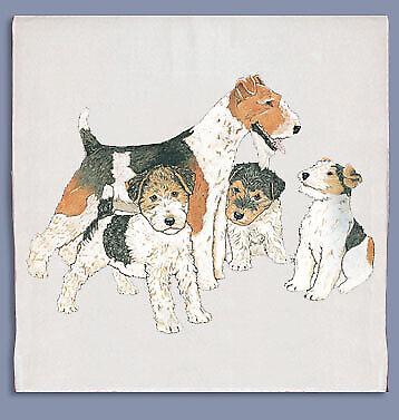 Fox Terrier Wire Dish Towel