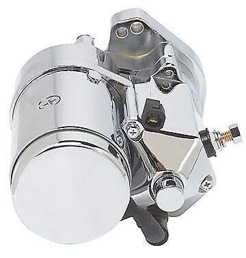 Ultima Chrome 2.4kw Side Post Heavy Duty Starter for Harley Big Twin 1989-2006