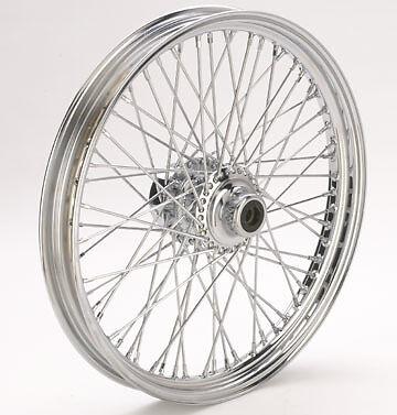 "Ultima Billet Chrome 60 Spoke 21"" x 2.15"" Front Wheel for Softail/Dyna 1984-1999"