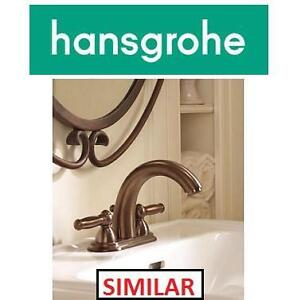 NEW HANSGROHE WIDESPREAD FAUCET - 123014350 - SWING C W/ LEVER HANDLE BRUSHED NICKEL