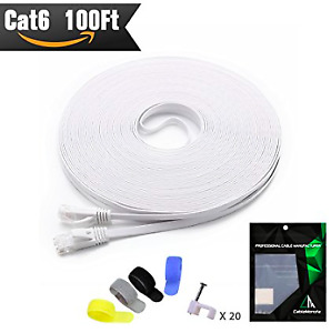 CAT 6 White Ethernet Cable (100ft)