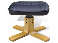 Chair and stool Faux leather with wood legs . For sale 6 m old