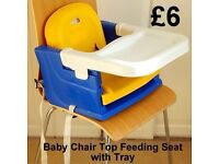 Baby Chair-Top Feeding Seat with Tray
