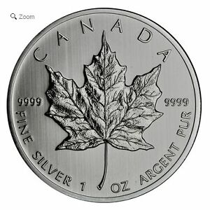 1 oz Silver Maple Leaf Coins - $2.00 over Spot - 500 oz. minimum