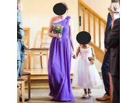 Purple bridesmaid dress/es size 8/10 or 12/14