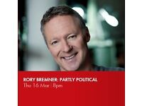 £6. For sale, one ticket for Rory Bremner: Partly Political, Bath Komedia, Thu 16 March @ 8pm