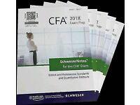 2018 CFA Schweser Books, Kaplan University level 1, 2, 3 Books available for sale.