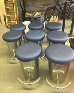 8 Stainless Steel Bar Stool Seats - **AMAZING DEAL**