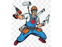 Handyman fixing assembly carpentry plumbing fitting kitchen and doors